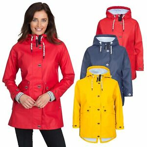 Trespass-Womens-Rain-Coat-Waterproof-Longline-Hooded-Coat-XXS-XXXL