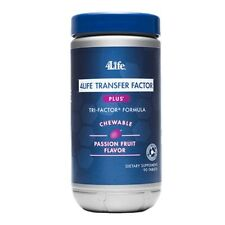 4LIFE TRANSFER FACTOR PLUS TRI-FACTOR * CHEWABLE PASSION FRUIT FREE SHIPPING !