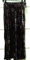 ropa Brand Printed Velvet A-line Skirt, Black Multi, Size Small,