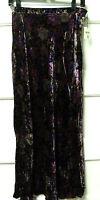 ropa Brand Printed Velvet A-line Skirt, Black Multi, Size Small,
