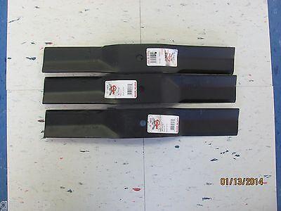 """3 Excel//Hustler # 767111 Blades  Fits Excel Short Cut 48/"""" Mower"""