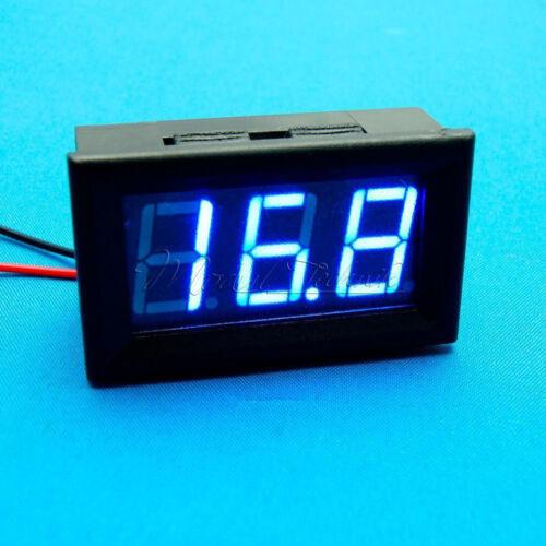 """0.56/"""" DC5V~120V Voltmeter LED 2 Wire Volt Voltage Meter For Electric Car Blue"""