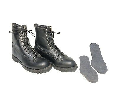 US MILITARY ARMY MOUNTAIN SKI BOOT LEATHER 10TH SFG CHIPPEWA BOOTS 11D VINTAGE