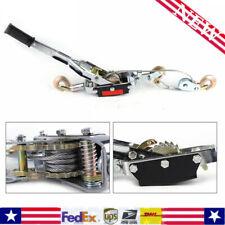 5 Ton Ratcheting Lever Hoist Hand Puller Come Along 3 Hooks Cable Dual Gear Sale