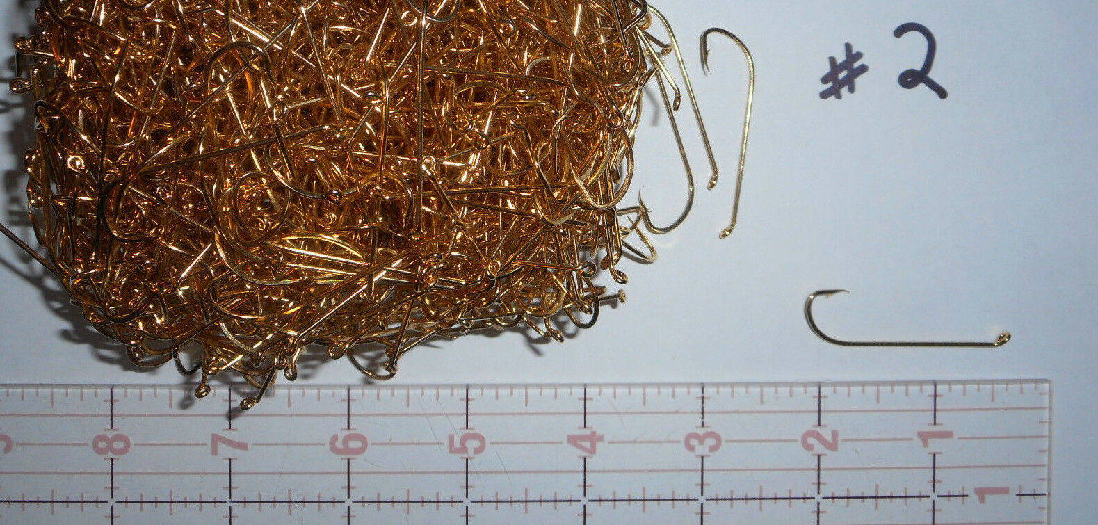 20,800 MUSTAD  2 Fly Tying RIG MAKING oroPLATED BULK fishing hooks 92614
