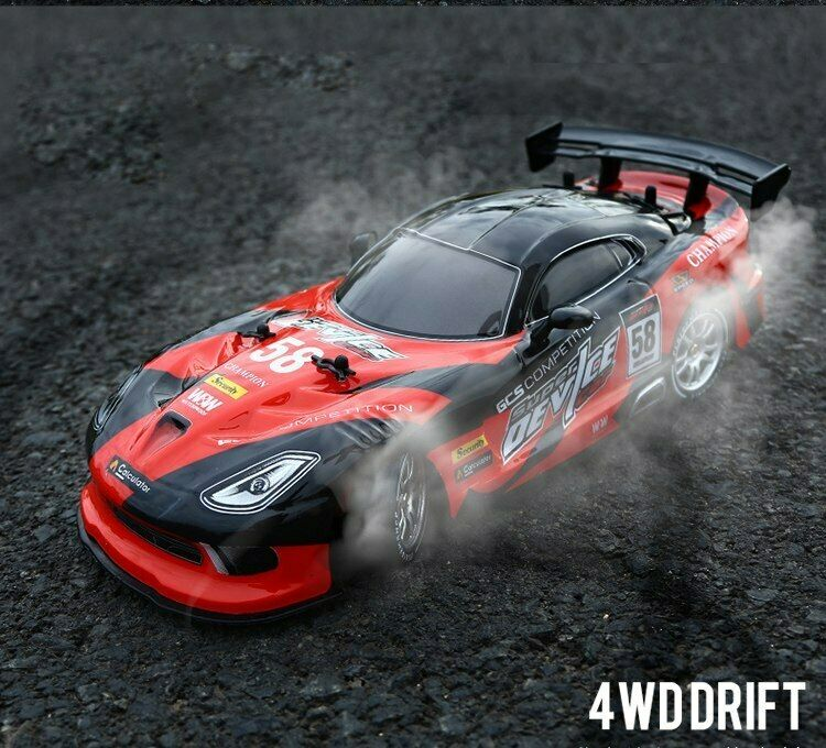 RC Car For GTR Dodge Viper 4WD Drift Racing Championship 2.4G Off Road Hobby Toy