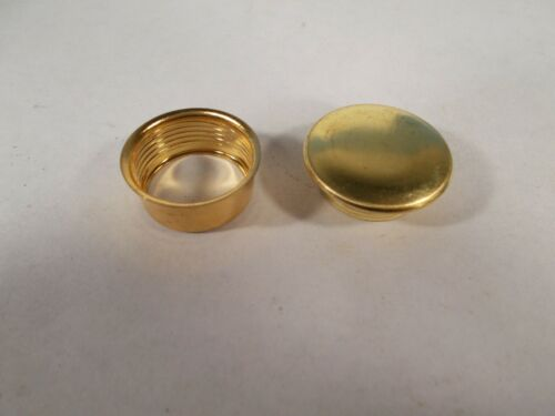 Details about  /Oil Lamp Replacement Solid Brass Screw In Oil Fill Cap /& Threaded Collar