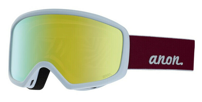 Anon Deringer Women's Purple Snow Goggle Sonar Bronze Lens and Facemask, New