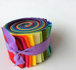 2.5 inch Rainbow Jelly Roll 100% cotton fabric quilting strips ... : cotton fabric quilting - Adamdwight.com