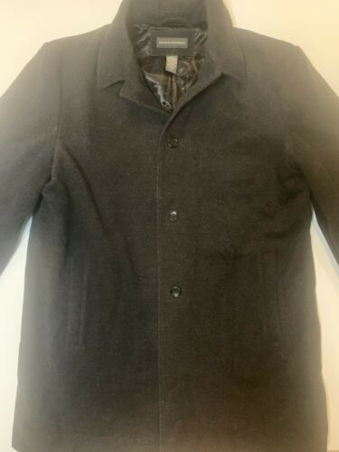 Banana Republic mens wool coat gray xl long great