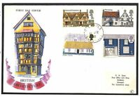 T280 1970 GB QEII FDC Cornwall Architecture Cover {samwells-covers}PTS