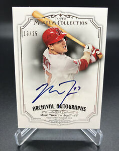 2012 TOPPS MUSEUM COLLECTION MIKE TROUT ARCHIVAL AUTO RC #AA-MTR 13/25 ANGELS