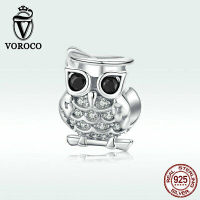 S925 Sterling Silver Snow /& Moonlight Bead Charm Fit Bracelet /& Necklace VOROCO