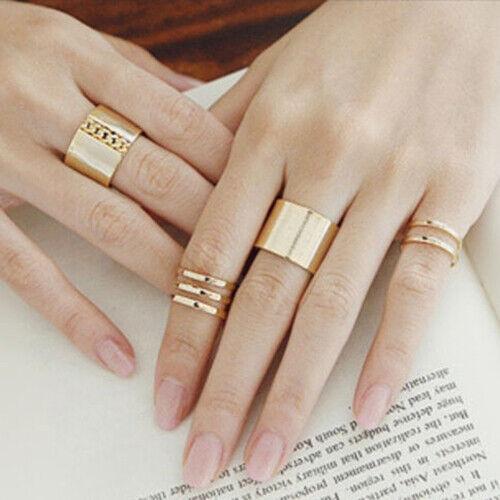 3 Rings Set Metal Ring Adjustable Open Wide Mid Finger Knuck