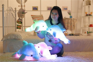 Colorful-LED-Light-Soft-Toy-Cute-Glowing-Dolphin-Stuffed-Plush-Pillow-Kids-Gift