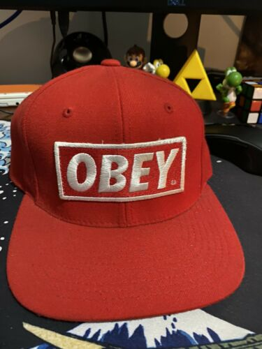 Obey hat snapback Red