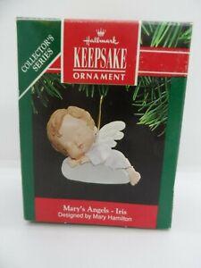 1991-Hallmark-Keepsake-Ornament-034-Iris-034-4-Mary-039-s-Angels-Box-amp-Original-Price