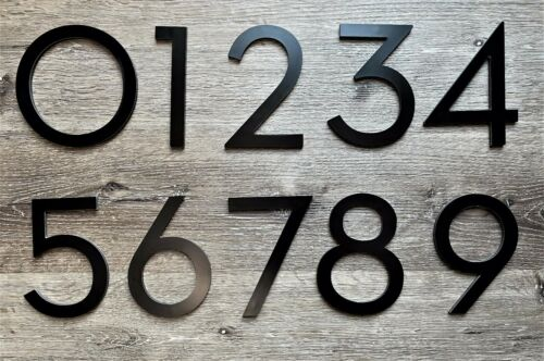 House Numbers Black 4 Inch