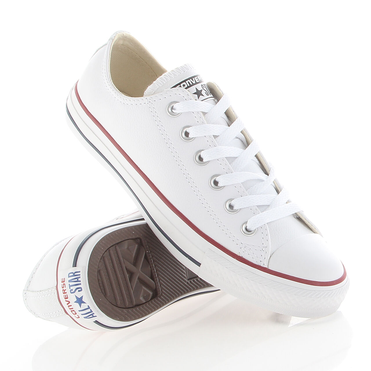 Chuck Taylor ALL Star CT OX leather Converse Blanc 132173C New Unisex Sneaker