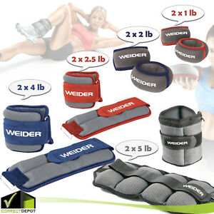 Pair-Adjustable-Ankle-Wrist-Arm-Weights-Running-Gym-Fitness-Leg-Exercise-Walk