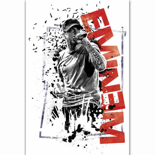 D-314 Eminem American Hip-Hop Rap Music Singer Star Album Poster Art 21 24x36in