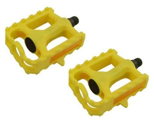 """M.T.B Pedals 861 9//16/"""" Yellow.bmx bicycle pedal.road bicycle pedal PLASTIC 9//16"""
