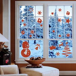 Wandtattoo-Weihnachten-Schneemann-Winter-Schneeflocken-Set-Wand-Tattoo-2058