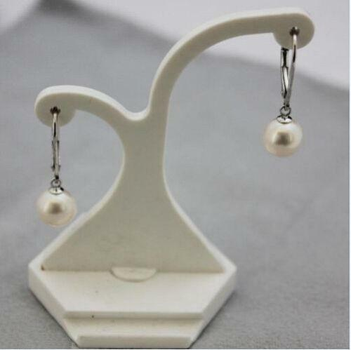 South Sea Pearl Dangle Earring 14k  Gold Perfect Round White 9-10 mm AAA+