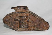 Cast Iron 1918 Army Tank Bank, Original