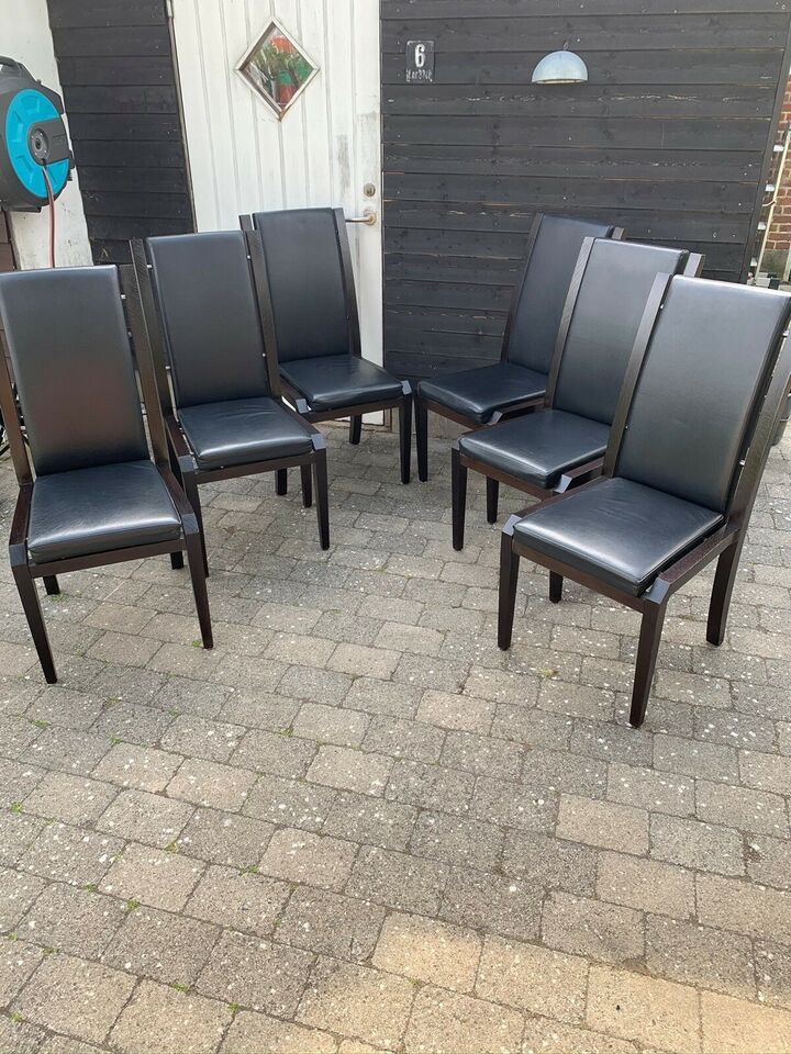 Spisebordsstol, Træ/læder, Ilva