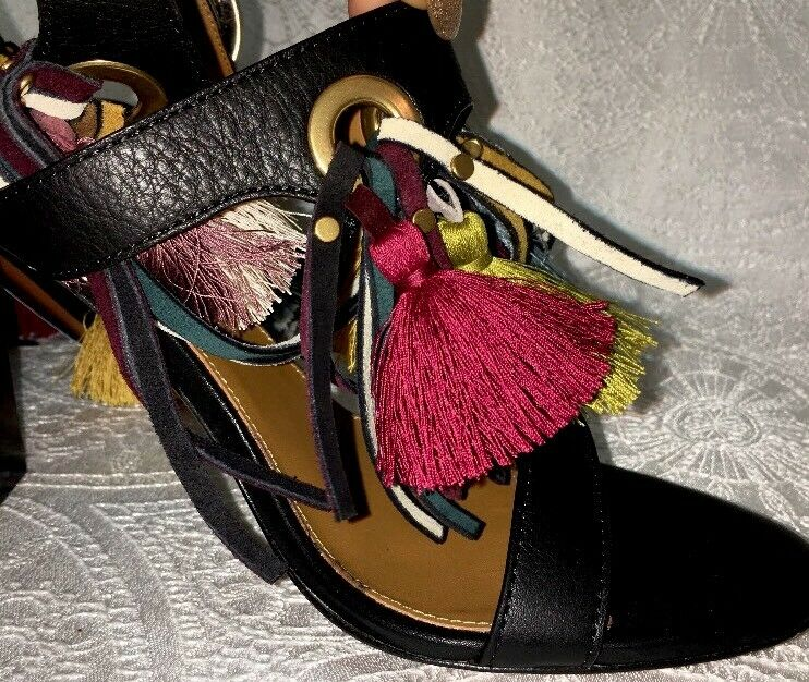 Chlóe Tassel High Sandal colorful colorful colorful Tassels Size 40 NEW  1390 57783a