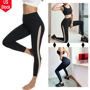 878a62c706e1a US Women s High Waist Yoga Pants Sports Leggings Tummy Control ...
