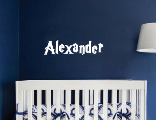 Personalised Custom Harry Potter Name Vinyl Cut Stickers Wall Decal Baby Kids