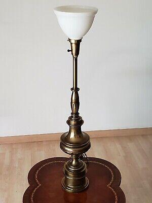 Torchiere Table Lamp W Milk Diffuser, Stiffel Brass Lamps Value