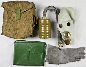 DDR-NVA-Gasmaske-Schutzmaske-TSM-UTV-in-Tasche-Zubehoer-Filter-Gr-2-etc-3032