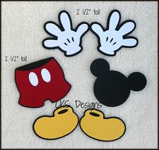 Die Cut Disney Mickey Mouse Hands Shoes Shorts Scrapbook Paper Piecing CKS