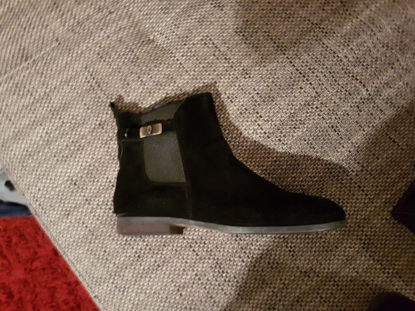 Tommy Hilfiger Stiefeletten Nubukleder Schwarz 40 wie neu,2-3mal getragen Boots