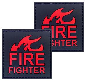 2x American Flag Golden Border PVC Patch 3D Tactical Badge Hook