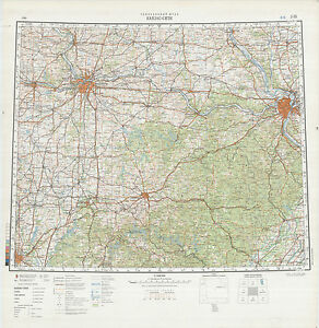 Russian Soviet Military Topographic Maps KANSAS CITY USA 1