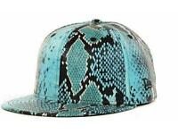 Era Jeremy Scott Blue Faux Snakeskin Snakeskin Blue 59fifty 5950 Cap Hat