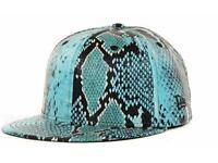 Era Jeremy Scott Blue Faux Snakeskin Snakeskin Blue 59fifty 5950 Cap Hat