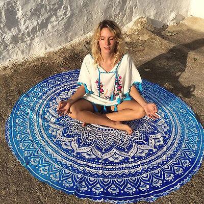 Vintage Round Tapestry Wall Hanging Beach Throw Towel Yoga Mat Boho Decor
