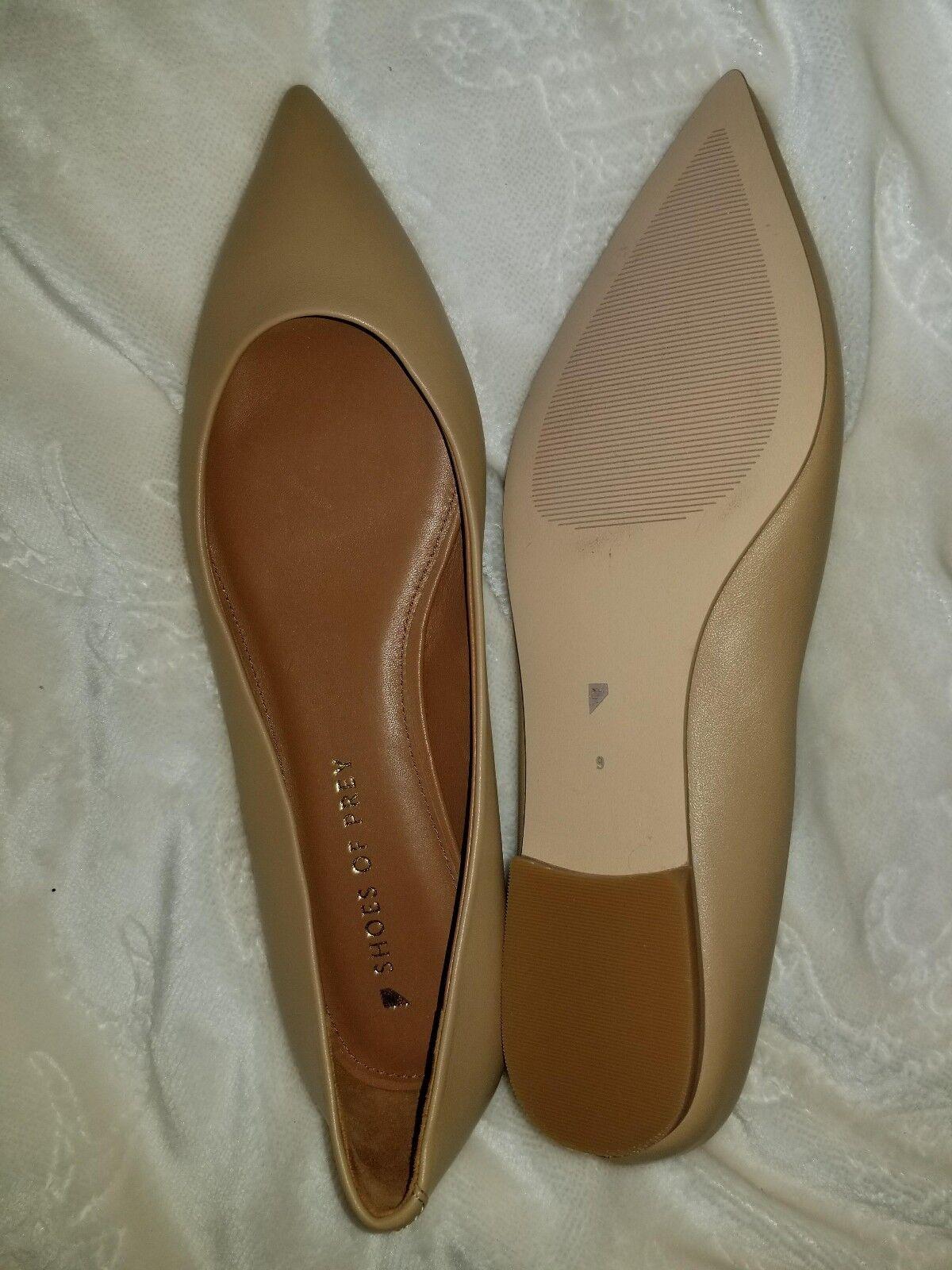 schuhe schuhe schuhe of Prey - Tan Leather Flats - Größe 9 - NEW- (offers accepted) e32017