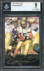 Drew-Brees-Rookie-Card-2001-Press-Pass-2-New-Orleans-Saints-BGS-9