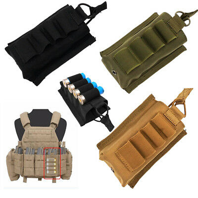 2pcs Tactical 6 Rounds 12//20GA Gauge Shotgun Shell Holder Ammo Cartridge Pouch