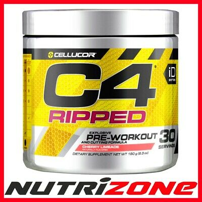 Cellucor C4 Ripped Pre Workout Fat Burning Formula Akg Alanine Carnitine 30serv