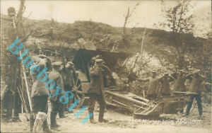 WW1-battery-Of-German-Artillery-Real-Photo-unposted
