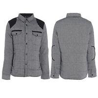 Brave Soul Mens Kensington Tweed Padded Coat Jacket Final Clearance Sale