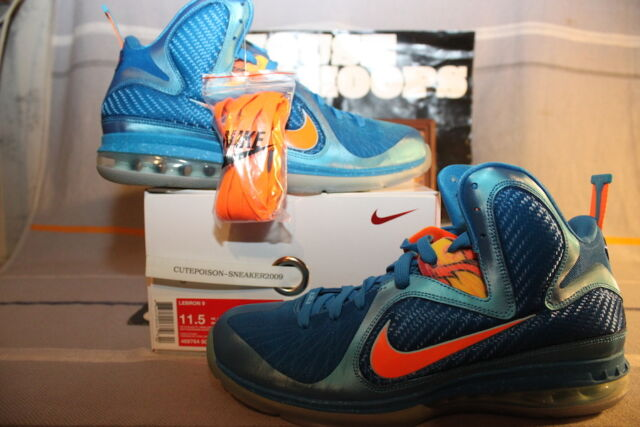 huge selection of 0fe79 fb55a Buy Nike Air Max Lebron IX 9 China Neptune Blue Orange Silver Grey ...