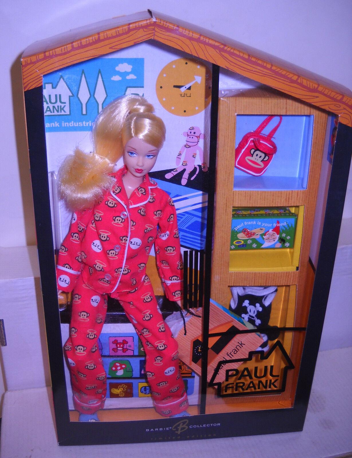 Raro en Caja Original Mattel diseñador Paul Frank Rojo Pijama Muñeca Barbie